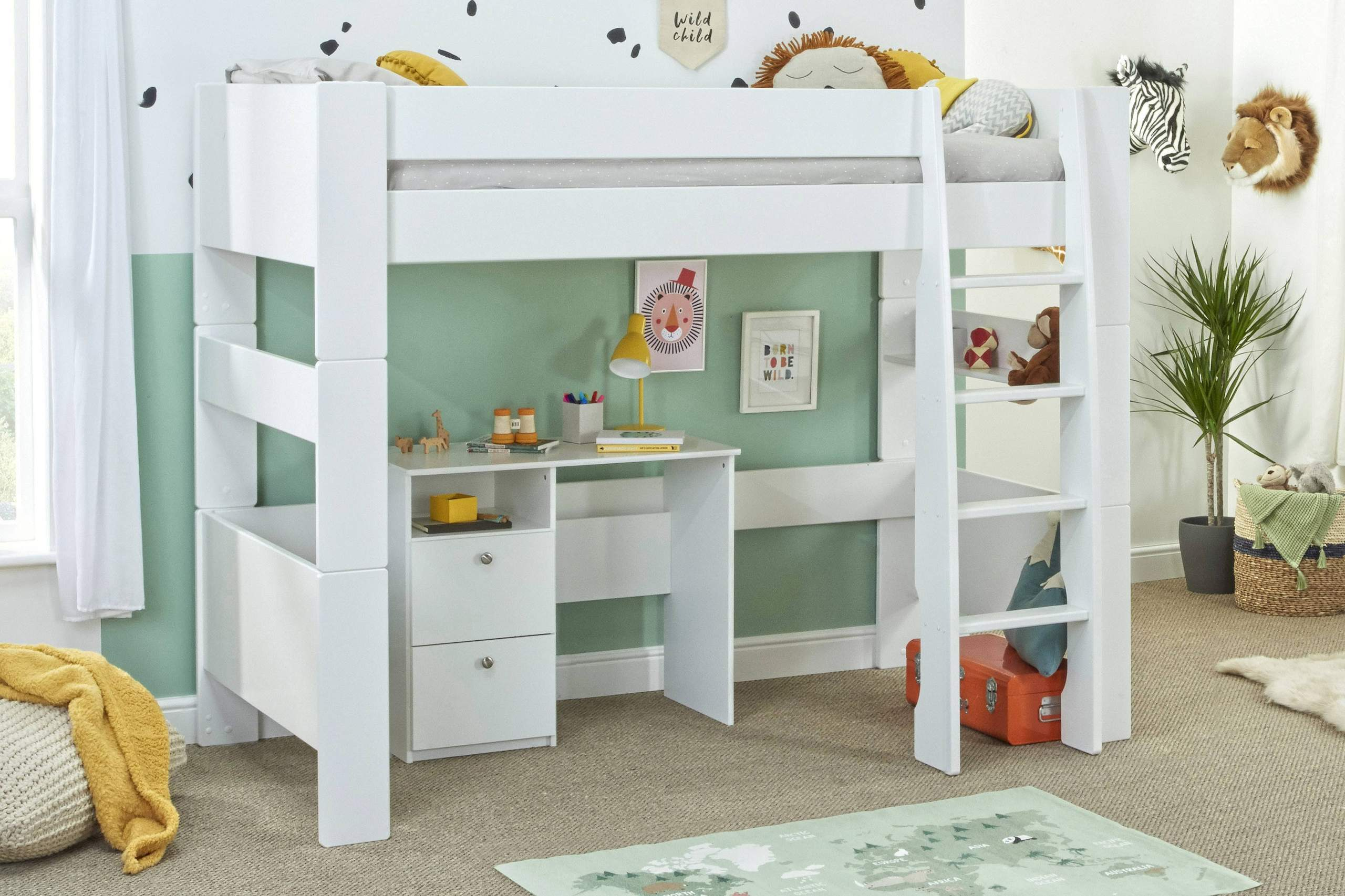 Bloc High sleeper with desk - no chair