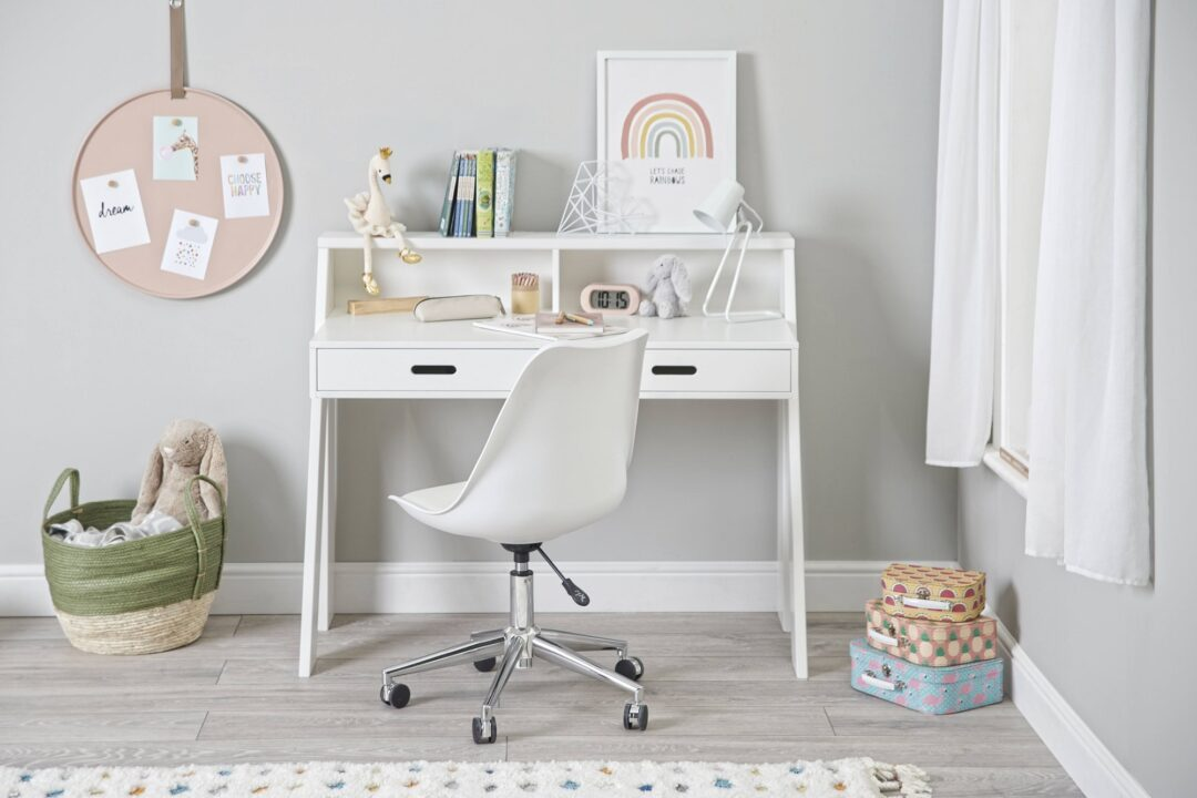 Manhattan desk white with chair stright on re-size