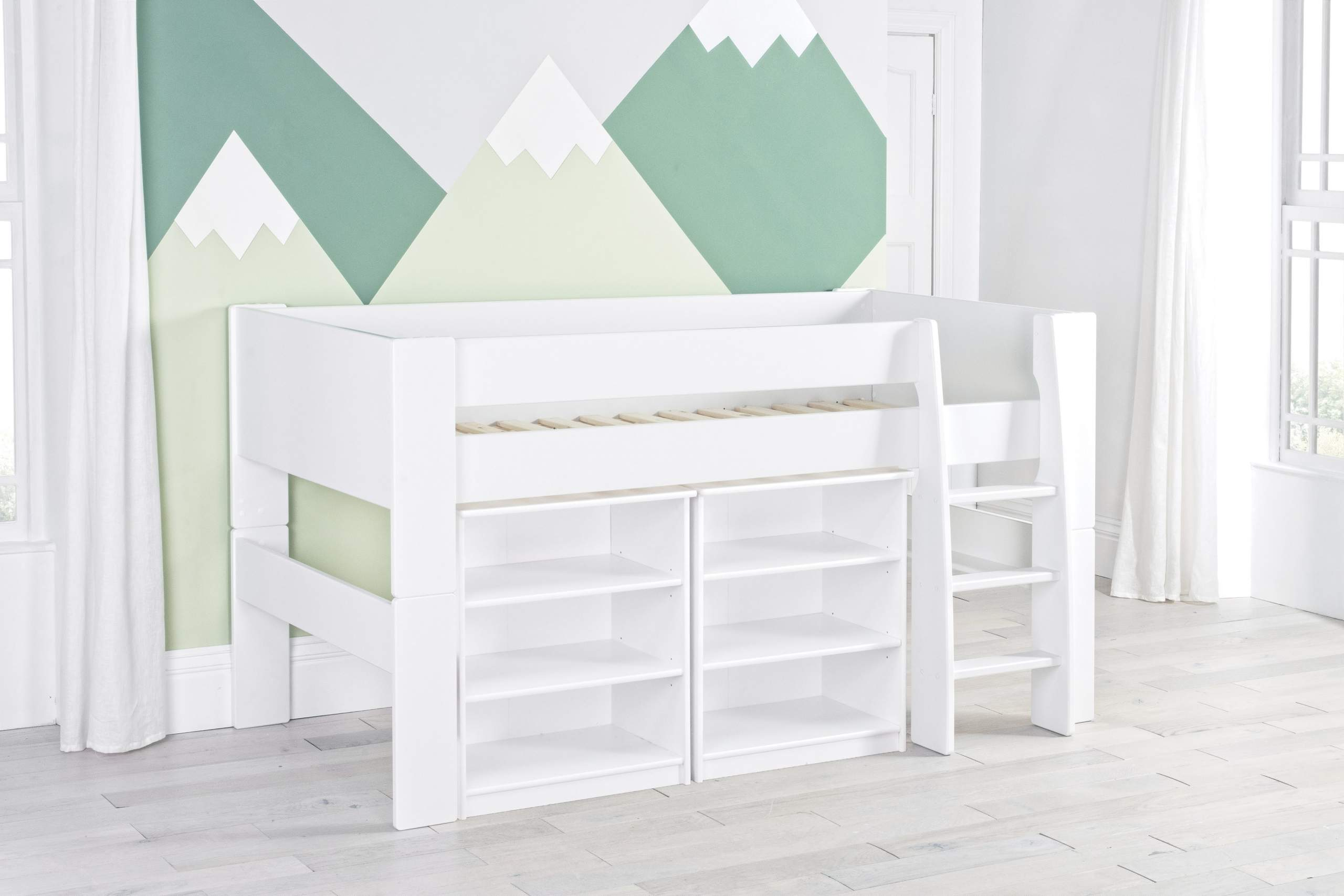 Bloc Mid with two bookcases - naked
