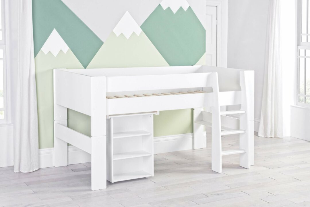 Bloc Midsleeper with pull out desk - naked