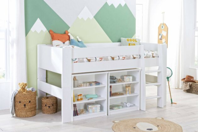 Bloc Midsleeper with two bookcases