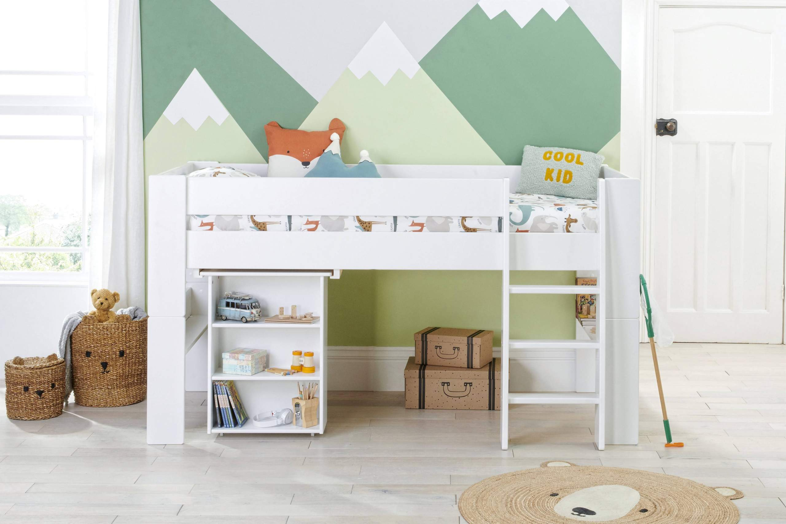 Bloc Midsleeper with pull out desk straight