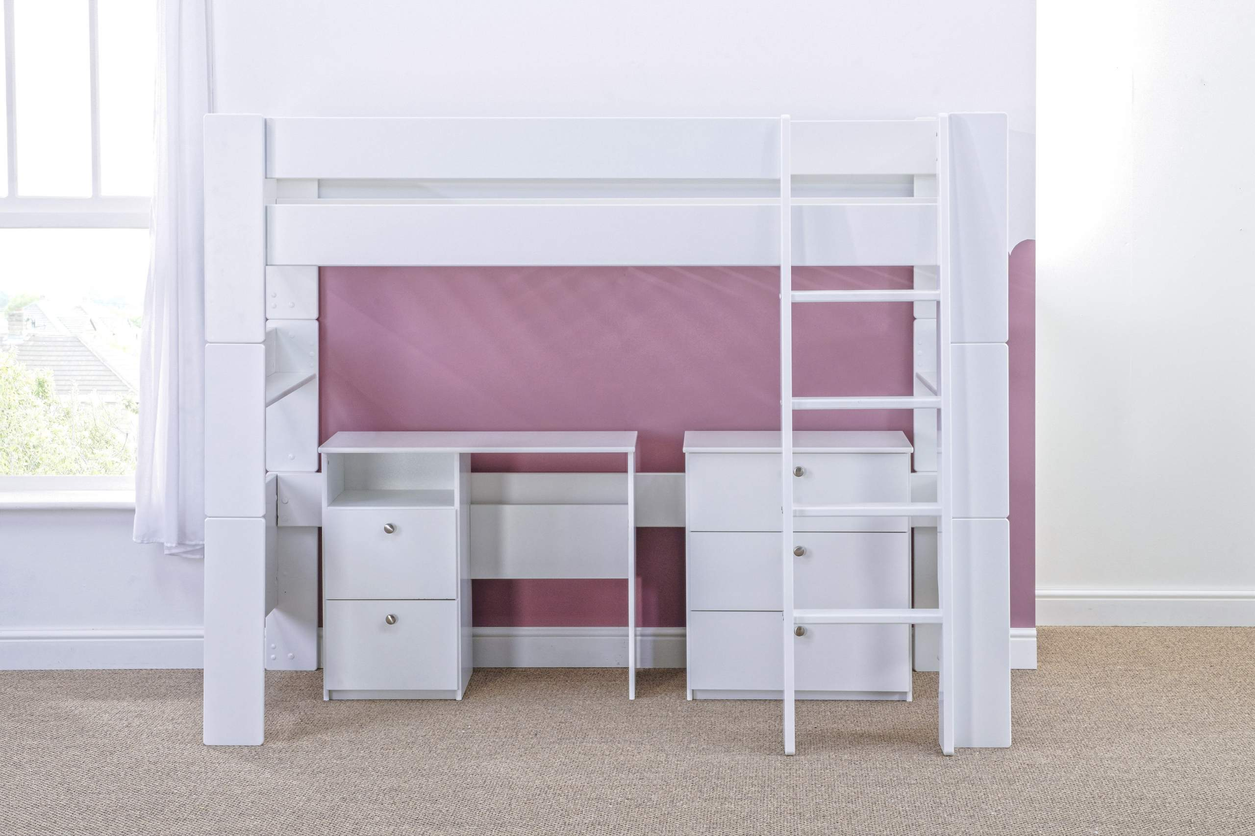 High Sleeper with Desk and chest - naked straight