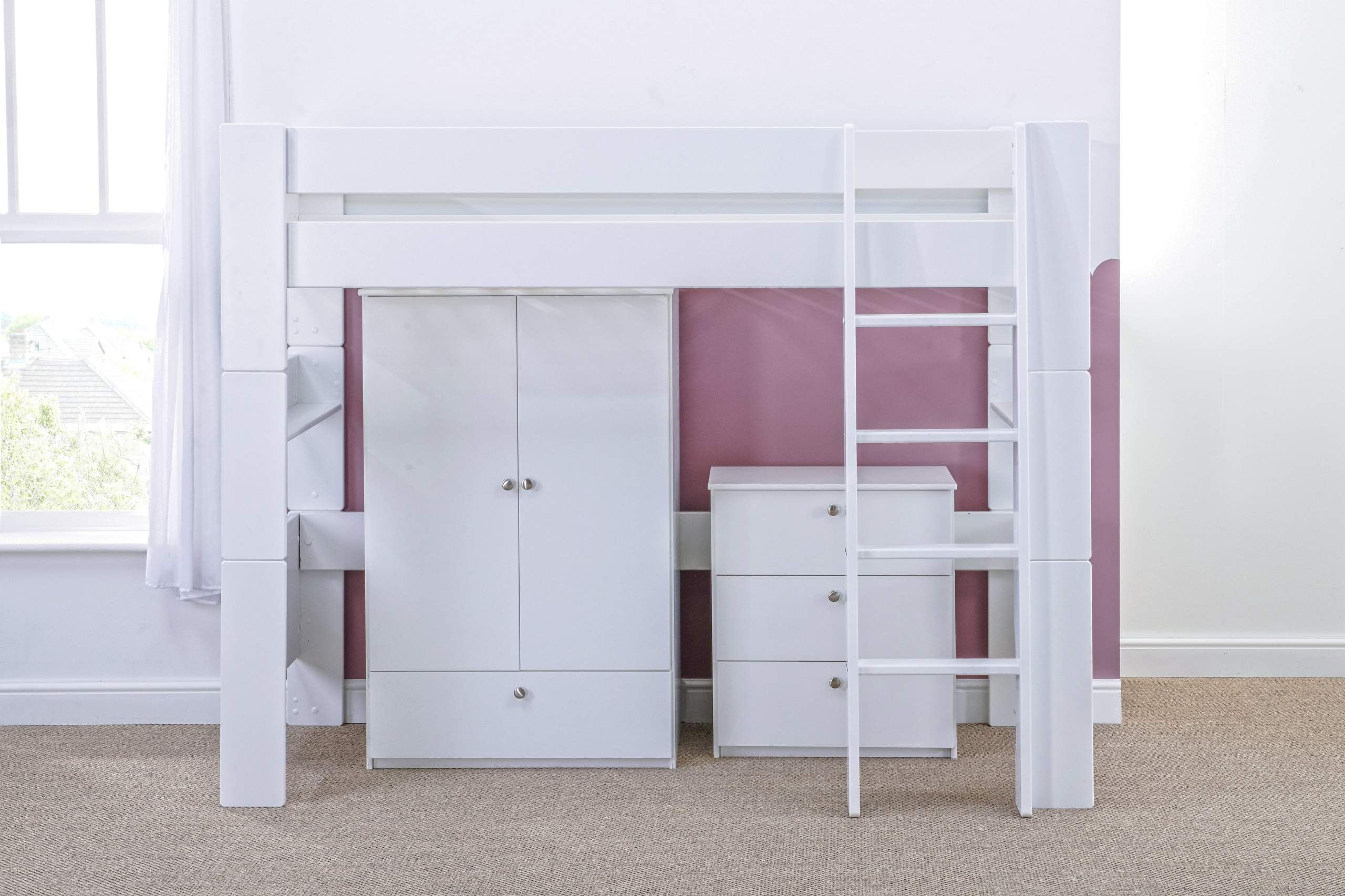 Bloc High Sleeper with robe and chest - naked straight