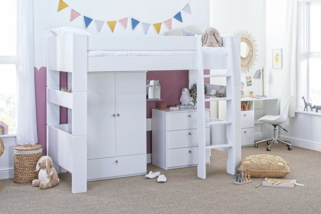 Bloc High Sleeper with robe and chest - angle