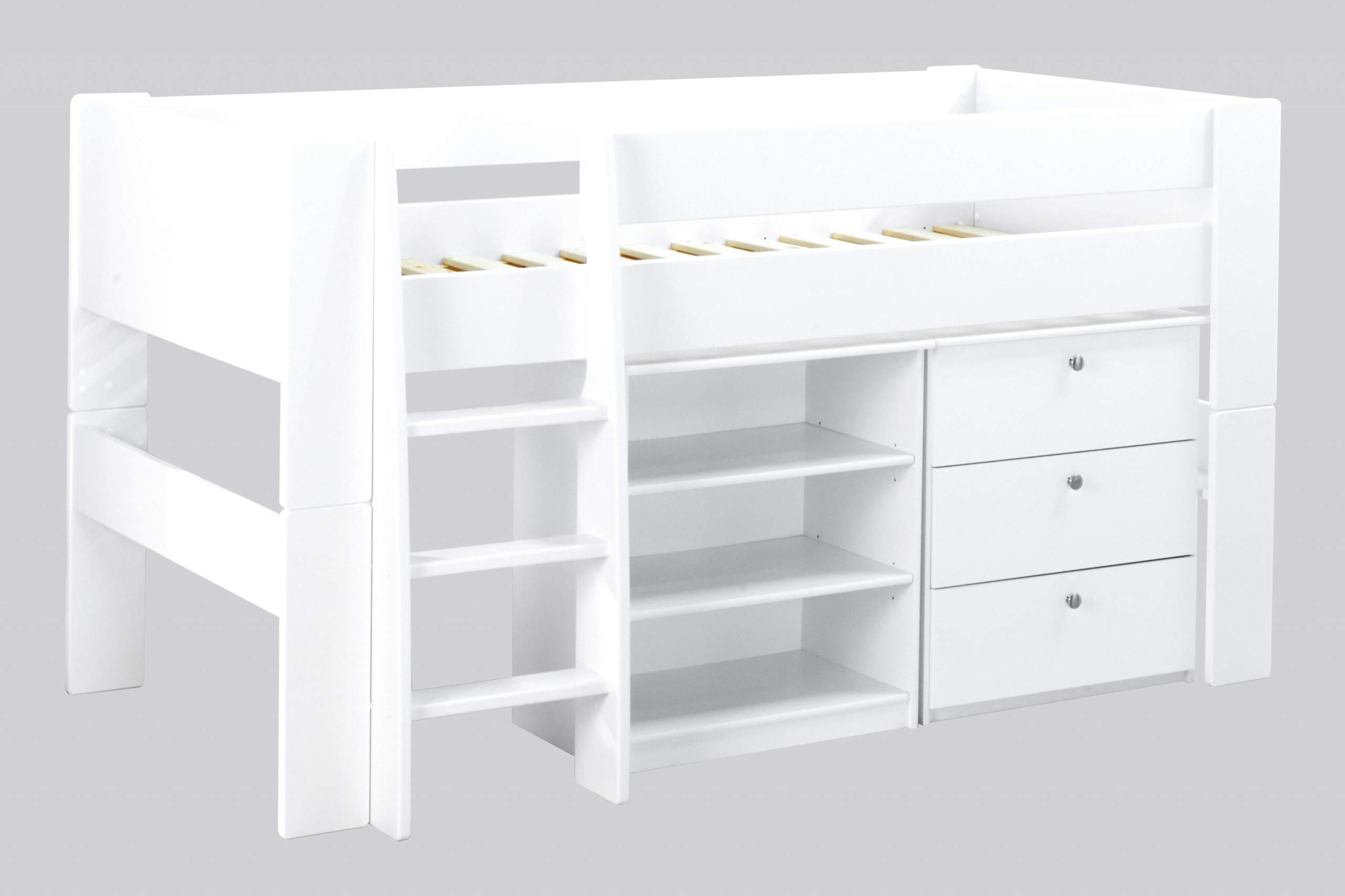 Cut out Bloc Midsleeper with chest and bookcase