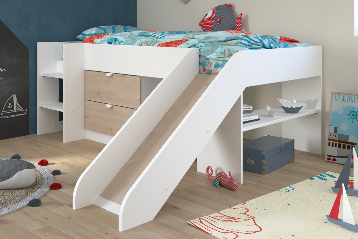 Tobo Midsleeper Bed with Slide
