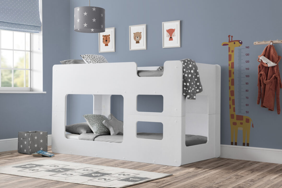 White Taylor Low Bunk Bed