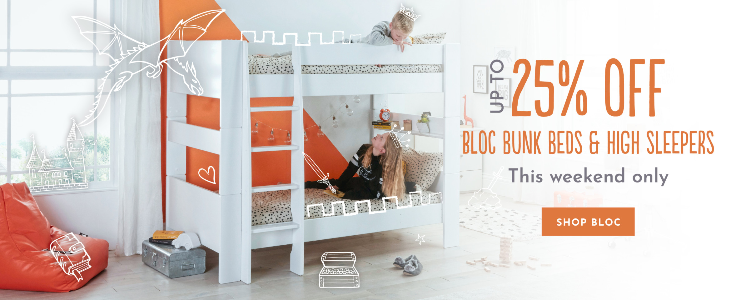 Up to 25% Off Bloc Bunk Beds and High Sleepers - This weekend only
