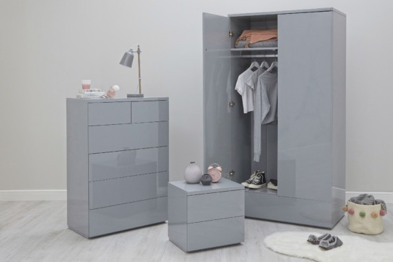 Roma Room Set A - Grey Gloss
