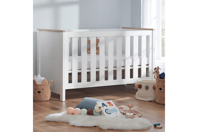 Aylesbury cot bed white and ash 006