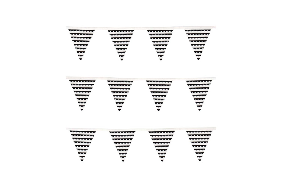 K105 Cloth Bunting Black and White