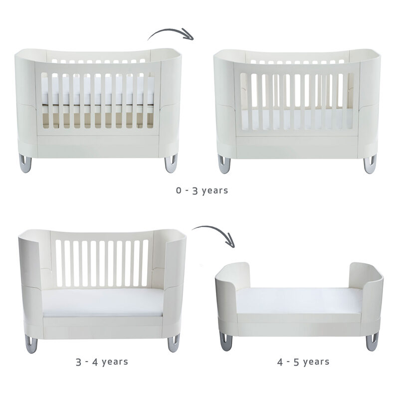 white cot bed guild